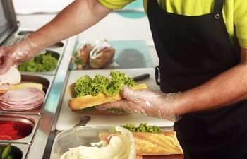 Food Hygiene in Cafe Kitchen